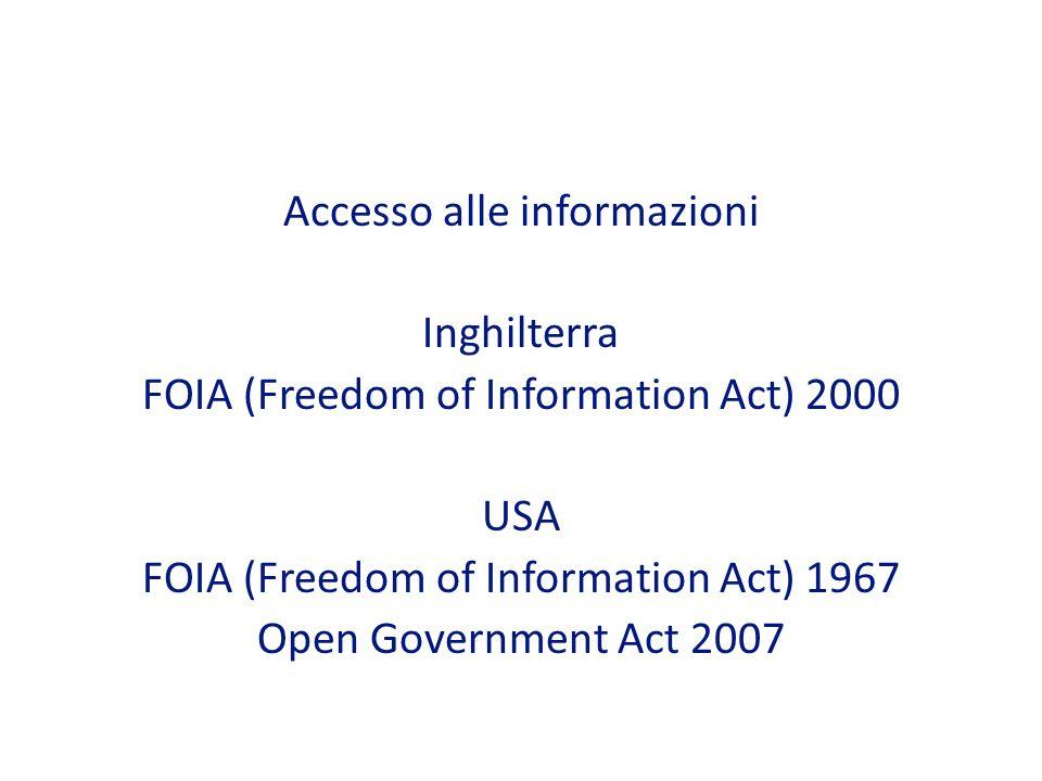 Accesso alle informazioni Inghilterra