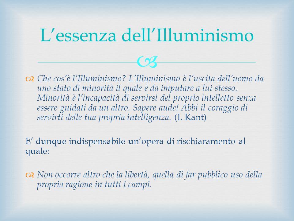 L'essenza dell'Illuminismo