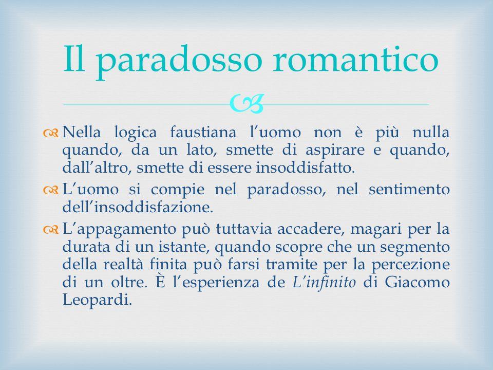 Il paradosso romantico
