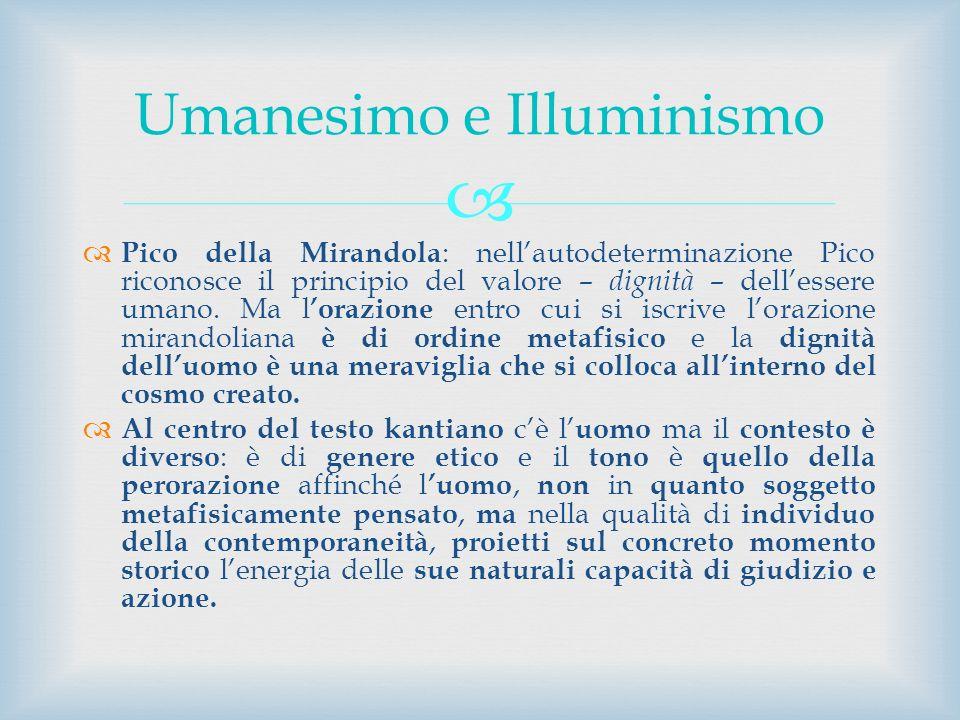 Umanesimo e Illuminismo