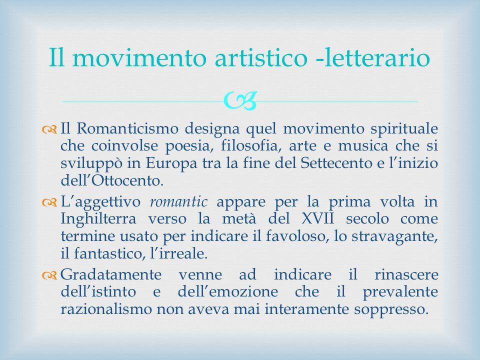 Il movimento artistico -letterario
