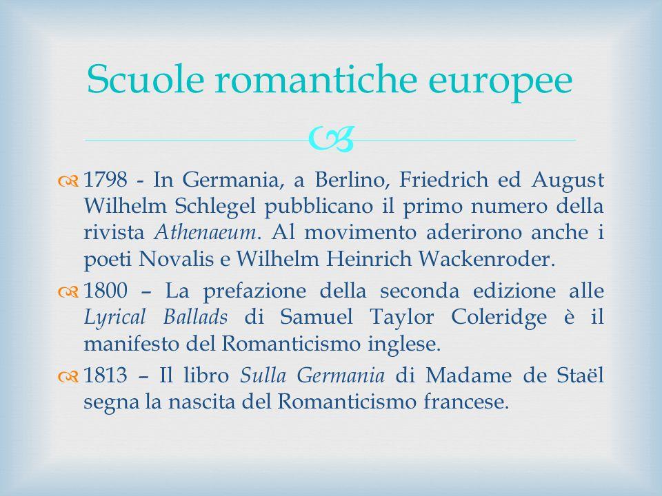 Scuole romantiche europee