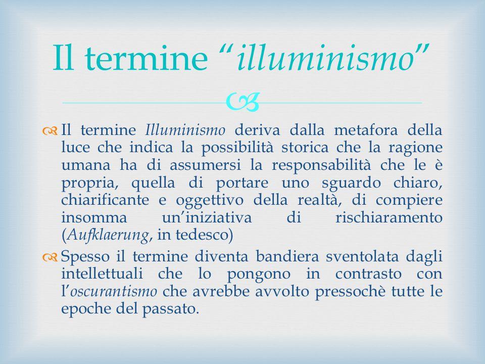 Il termine illuminismo