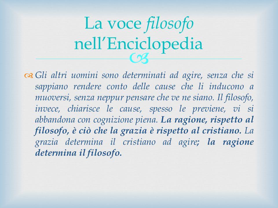 La voce filosofo nell'Enciclopedia
