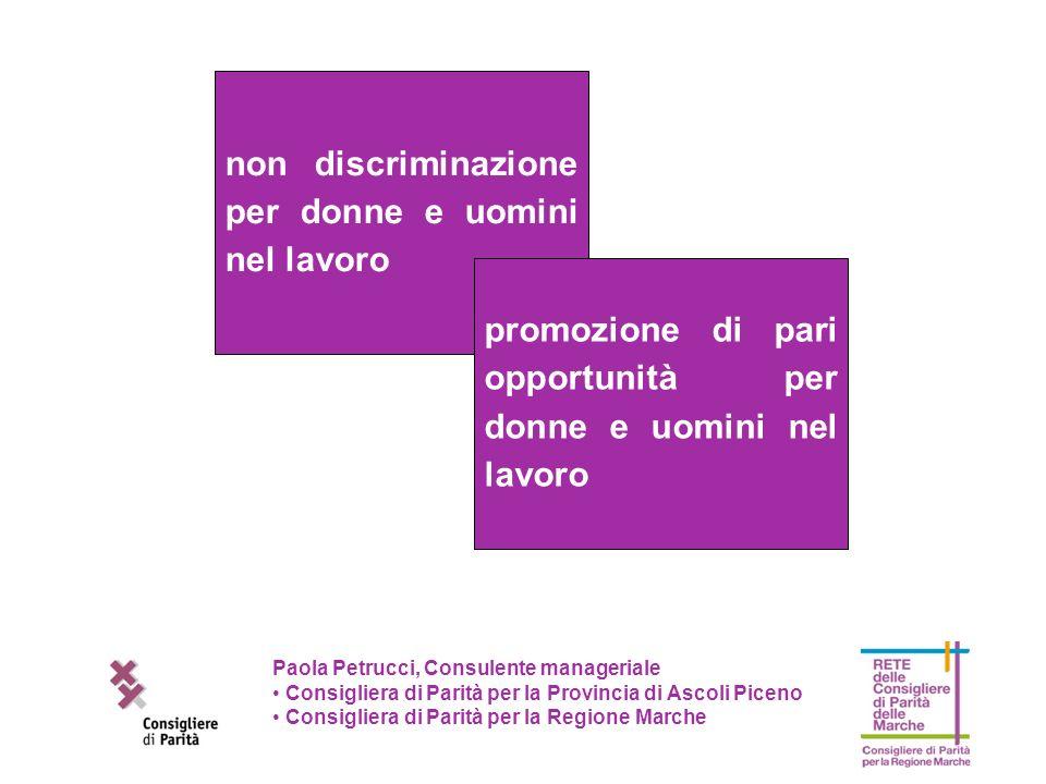 non discriminazione per donne e uomini nel lavoro