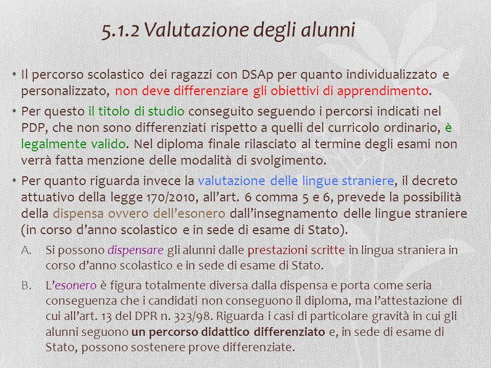 5.1.2 Valutazione degli alunni