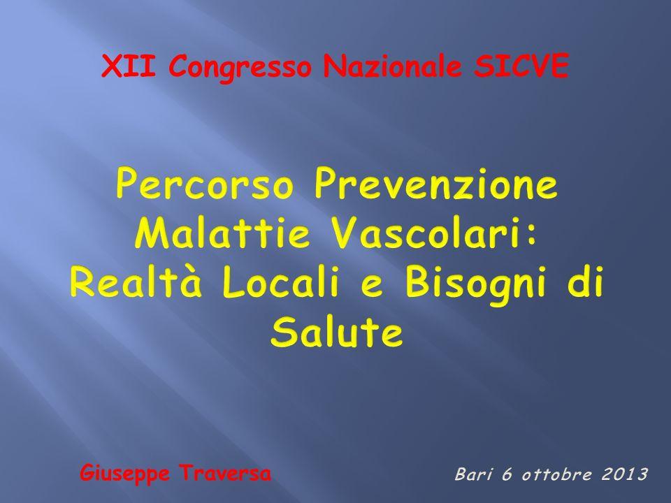Percorso Prevenzione Malattie Vascolari:
