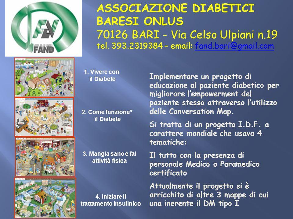 ASSOCIAZIONE DIABETICI BARESI ONLUS 70126 BARI - Via Celso Ulpiani n
