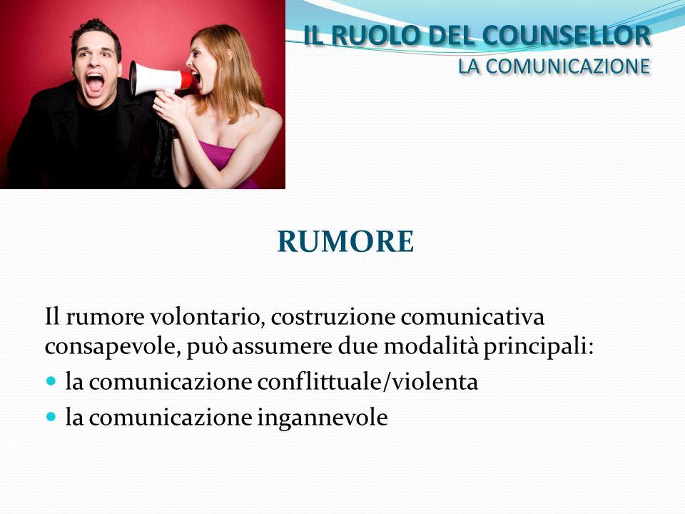 IL RUOLO DEL COUNSELLOR LA COMUNICAZIONE