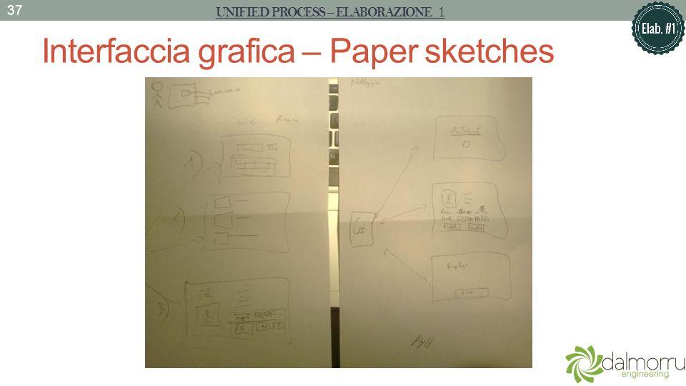Interfaccia grafica – Paper sketches