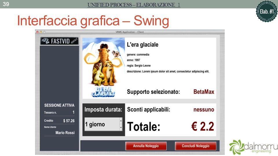 Interfaccia grafica – Swing