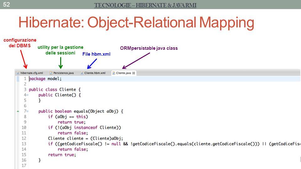 Hibernate: Object-Relational Mapping