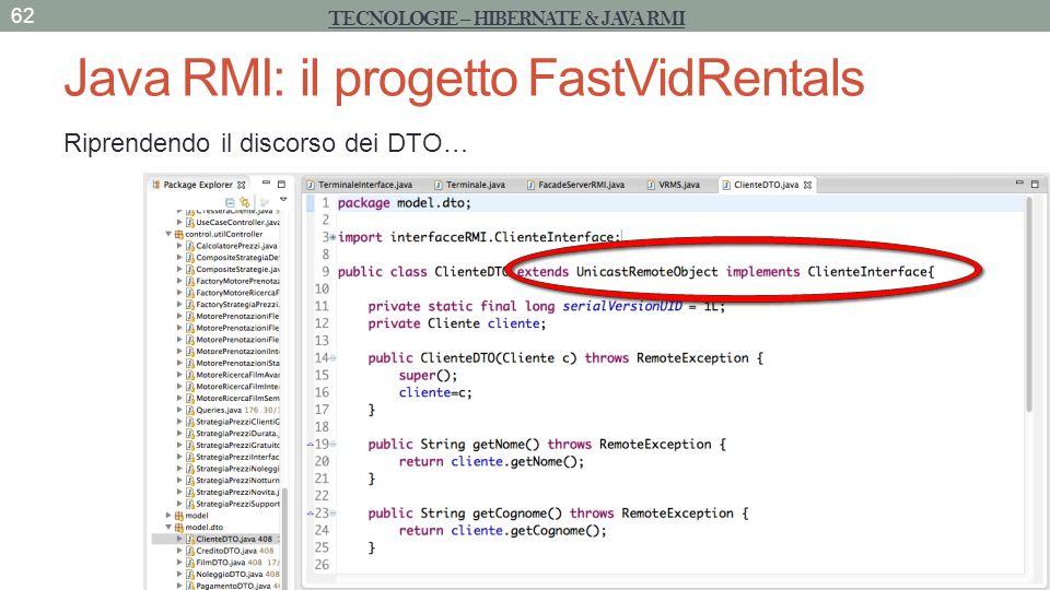 Java RMI: il progetto FastVidRentals