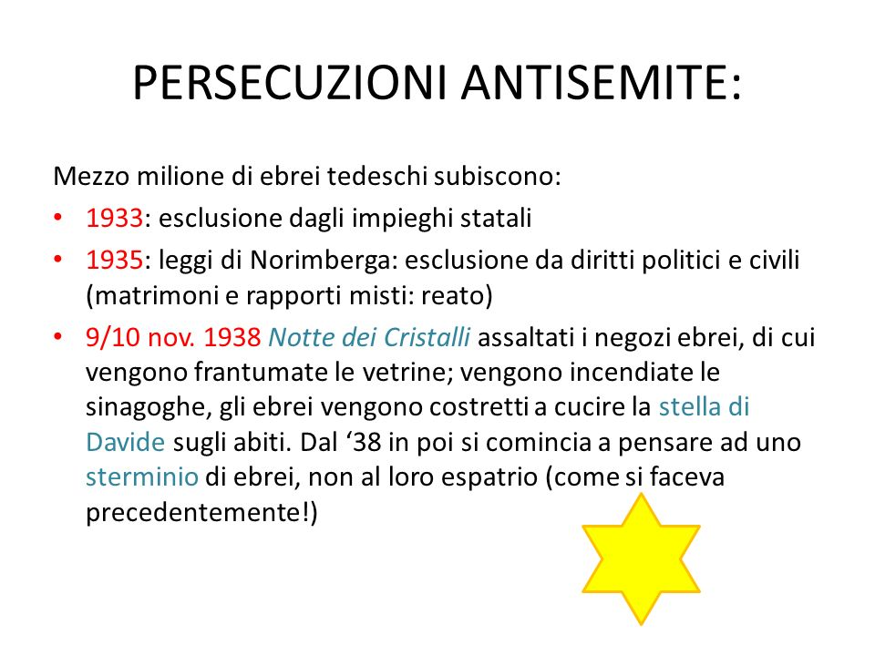 PERSECUZIONI ANTISEMITE:
