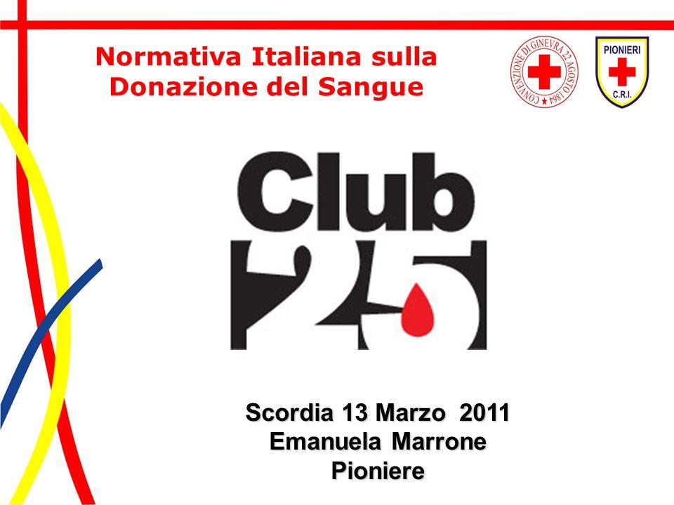 Normativa Italiana sulla Donazione del Sangue