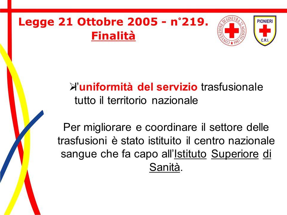 Legge 21 Ottobre 2005 - n°219. Finalità