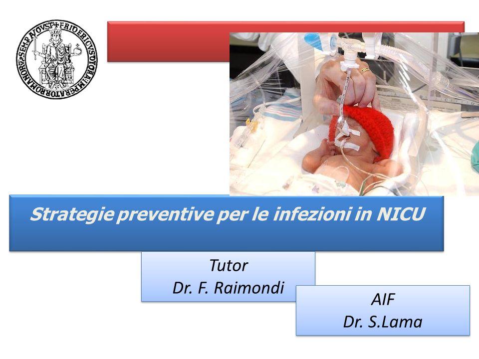 Strategie preventive per le infezioni in NICU