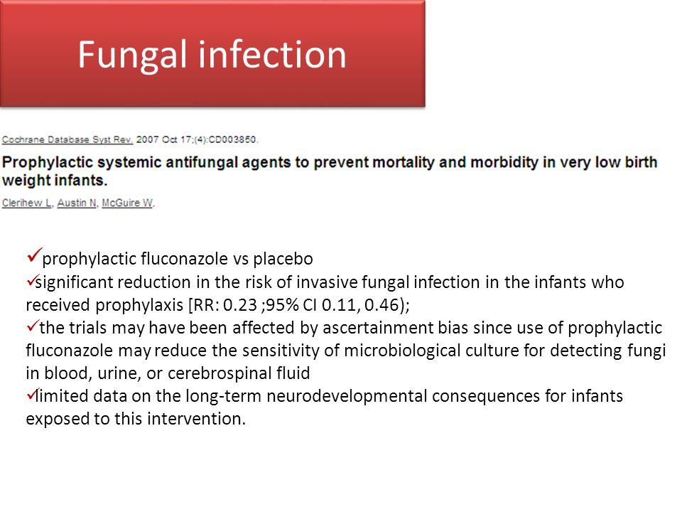 Fungal infection prophylactic fluconazole vs placebo