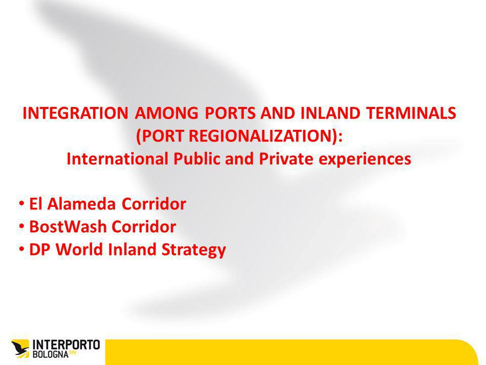 INTEGRATION AMONG PORTS AND INLAND TERMINALS (PORT REGIONALIZATION):