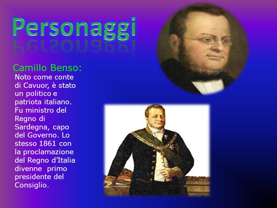 Personaggi Camillo Benso: