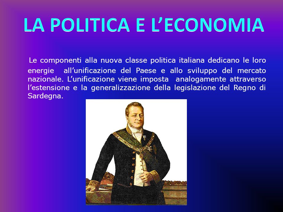 LA POLITICA E L'ECONOMIA