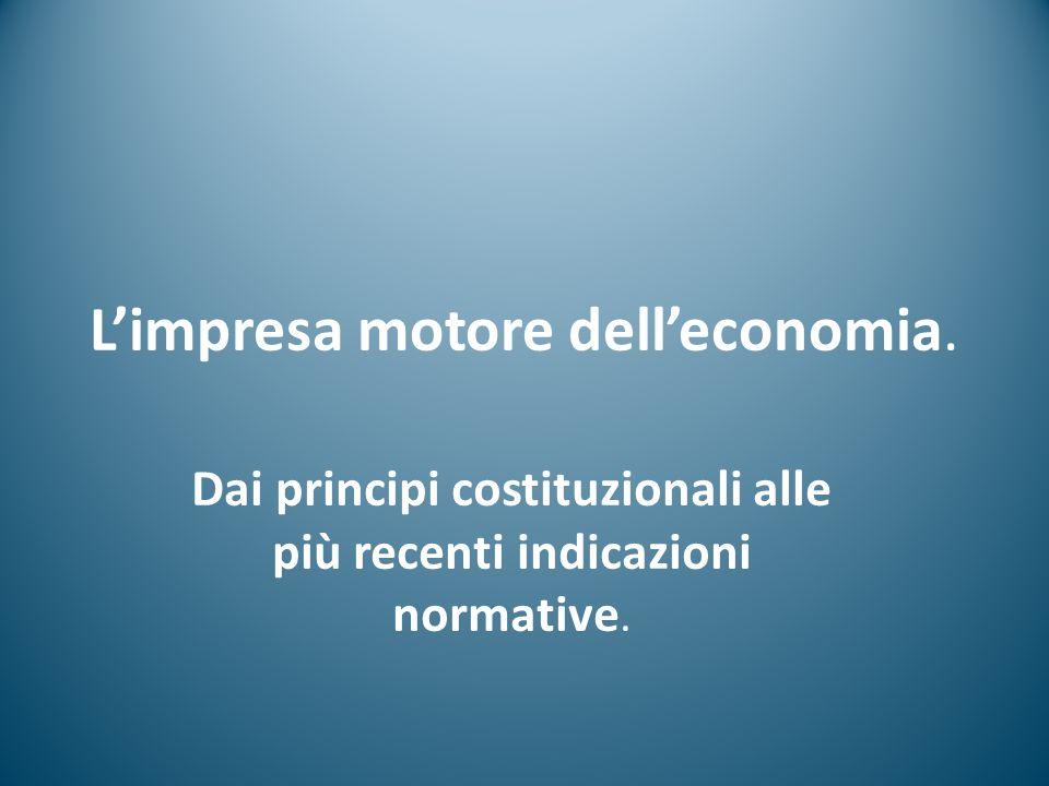 L'impresa motore dell'economia.