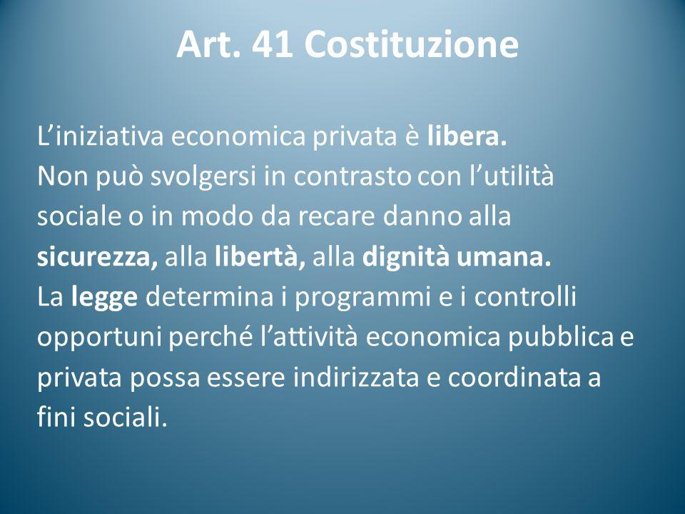 Art. 41 Costituzione