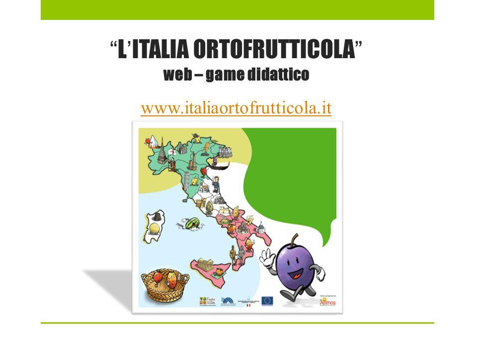 L'ITALIA ORTOFRUTTICOLA web – game didattico