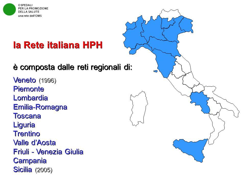 la Rete italiana HPH è composta dalle reti regionali di: Veneto (1996)