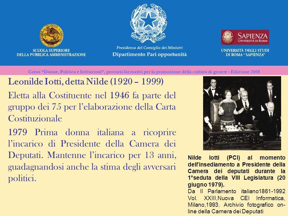 Leonilde Iotti, detta Nilde (1920 – 1999)