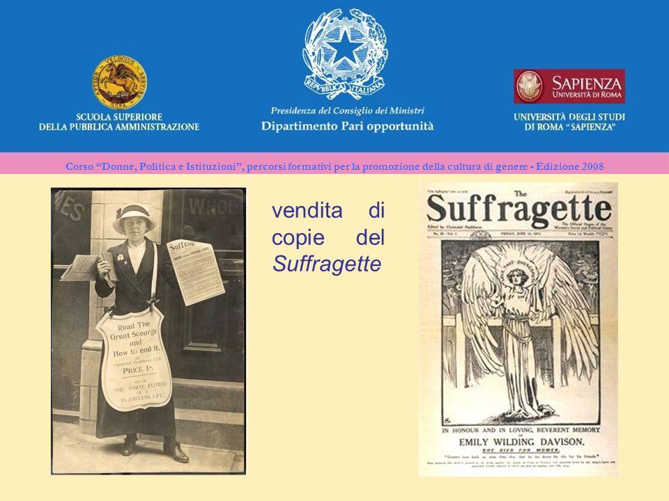 vendita di copie del Suffragette