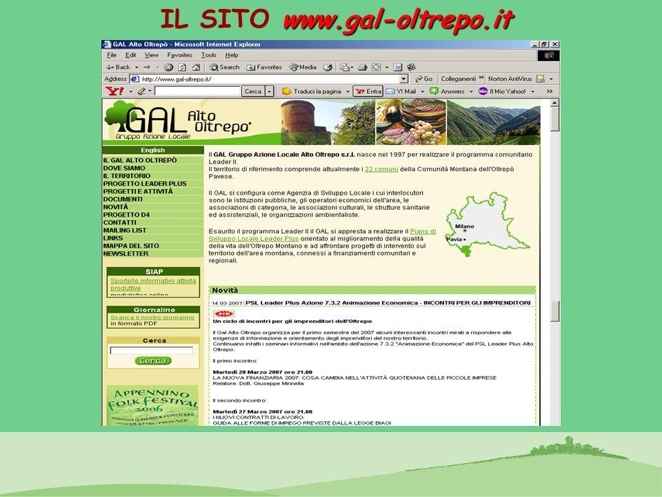 IL SITO www.gal-oltrepo.it
