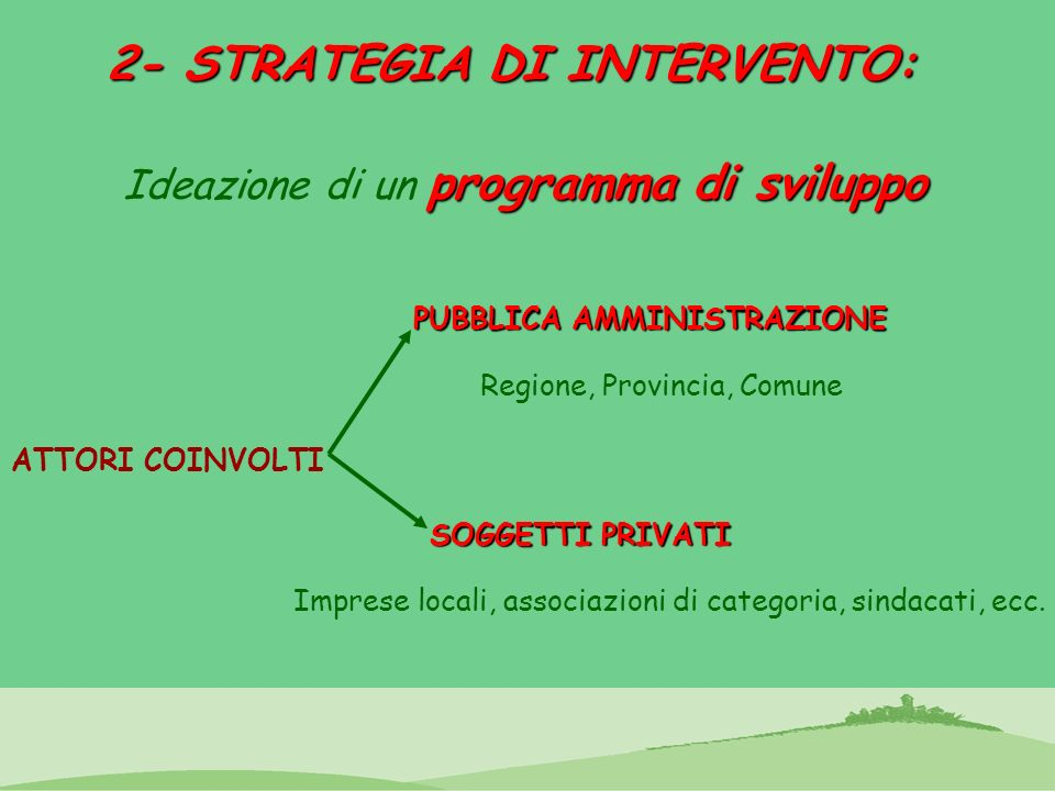 2- STRATEGIA DI INTERVENTO: