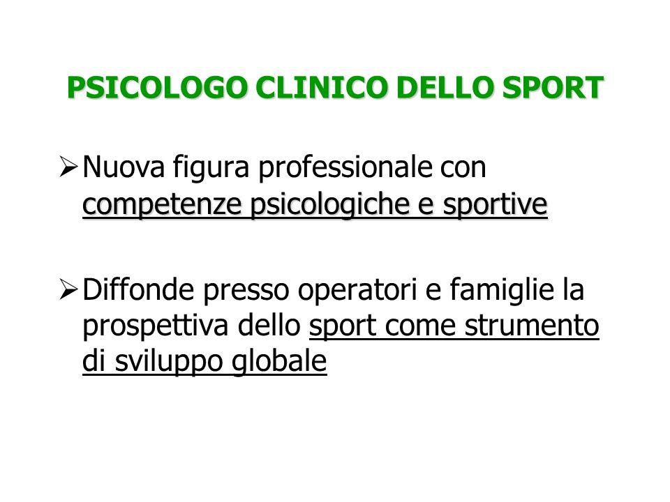 PSICOLOGO CLINICO DELLO SPORT