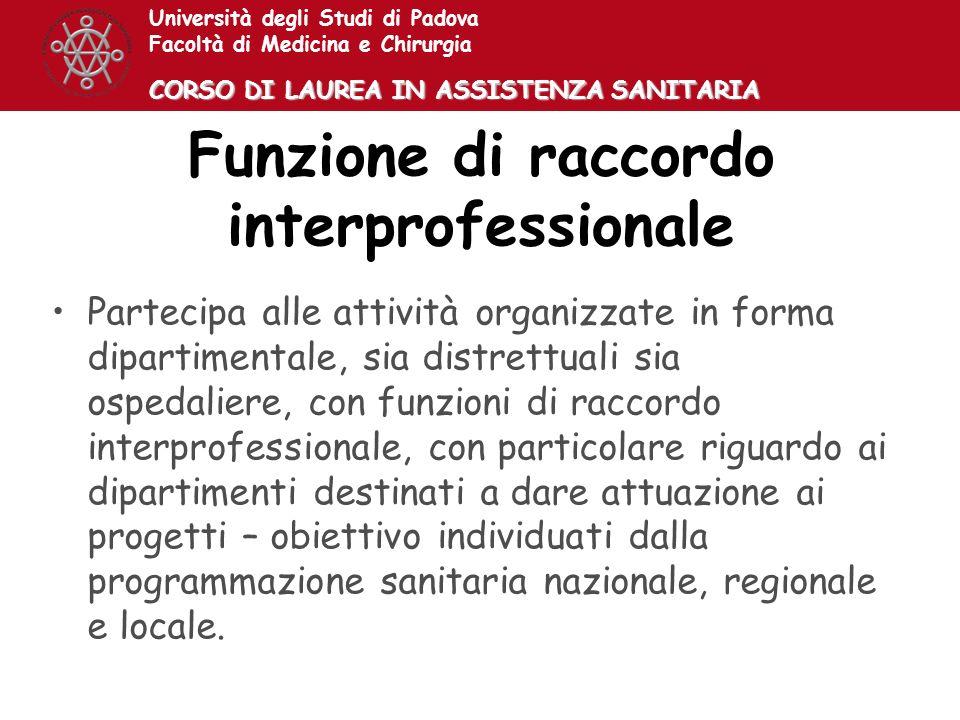 Funzione di raccordo interprofessionale