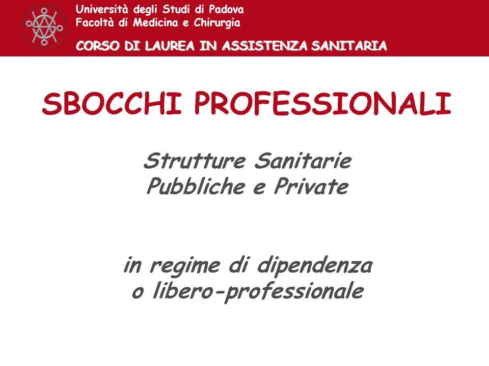 SBOCCHI PROFESSIONALI in regime di dipendenza o libero-professionale