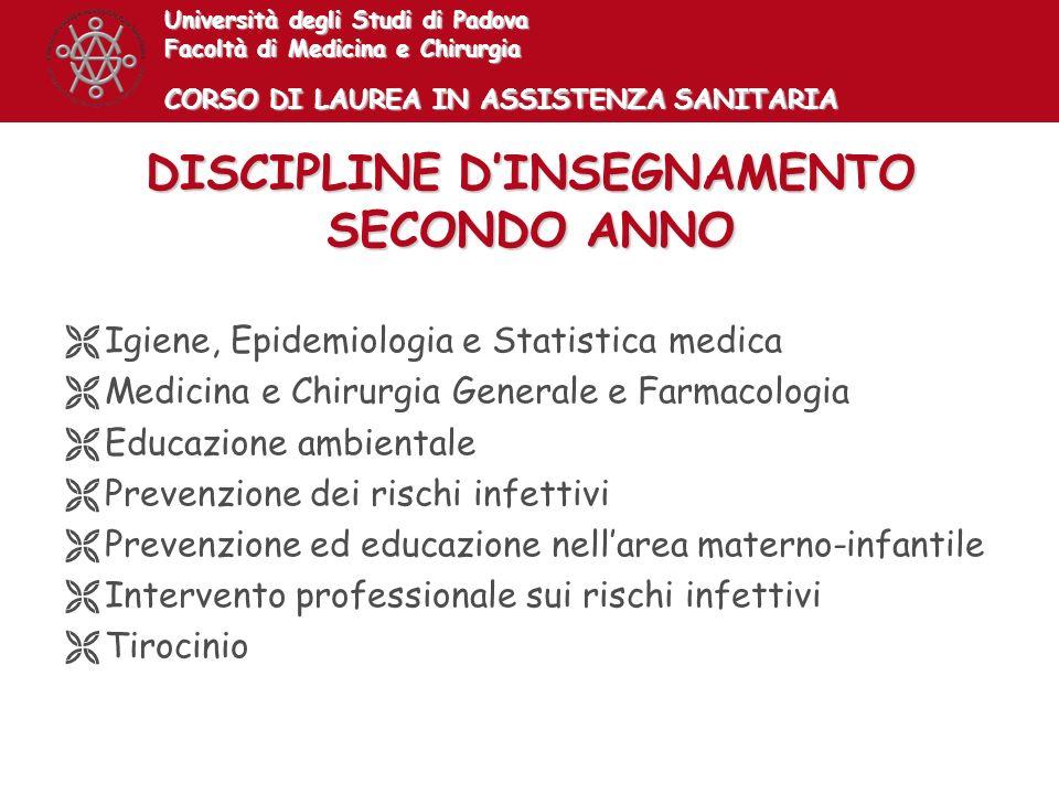 DISCIPLINE D'INSEGNAMENTO SECONDO ANNO