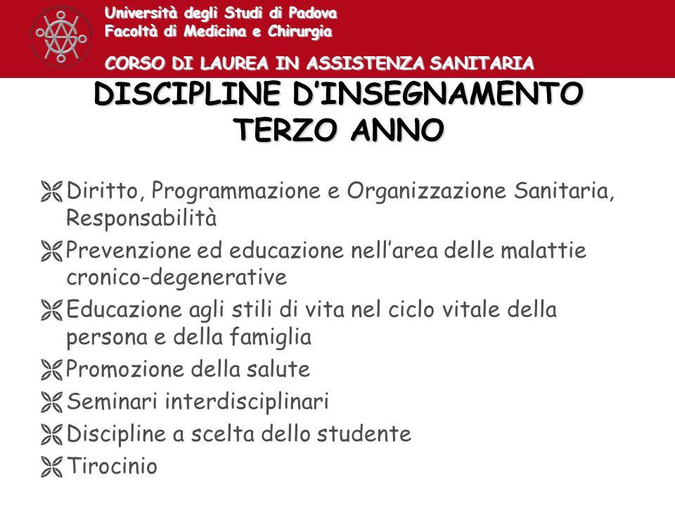 DISCIPLINE D'INSEGNAMENTO TERZO ANNO
