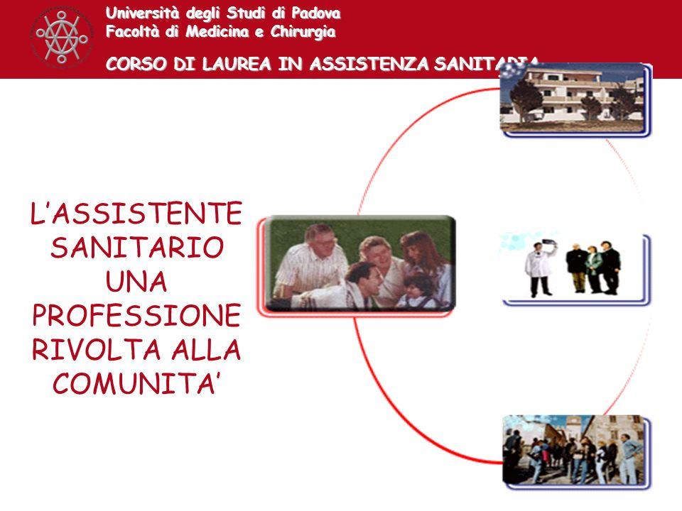 L'ASSISTENTE SANITARIO UNA PROFESSIONE RIVOLTA ALLA COMUNITA'