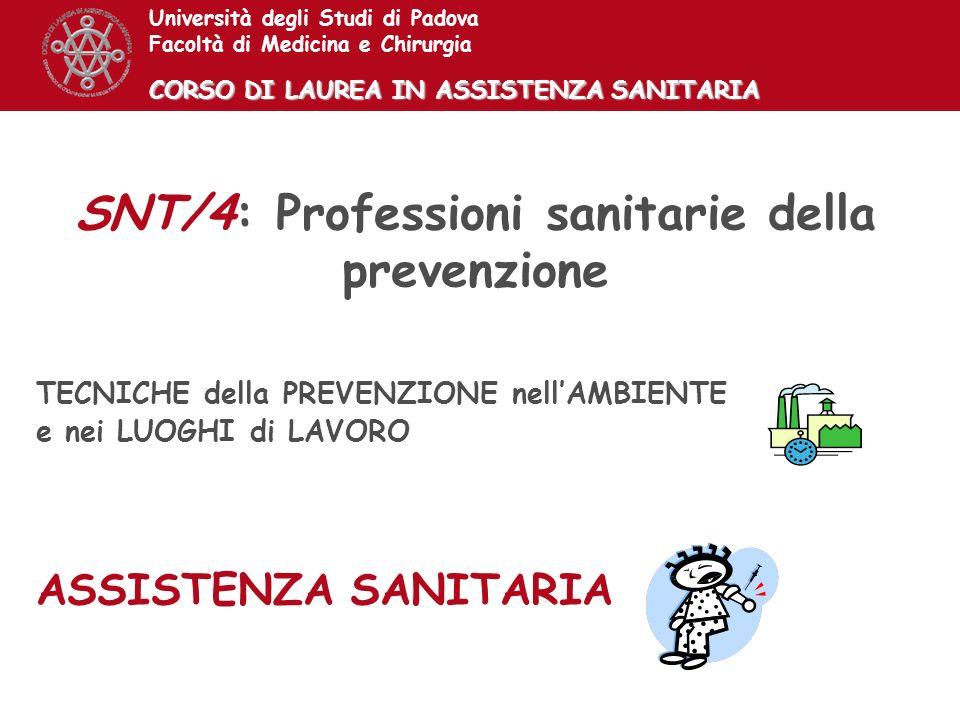 SNT/4: Professioni sanitarie della prevenzione