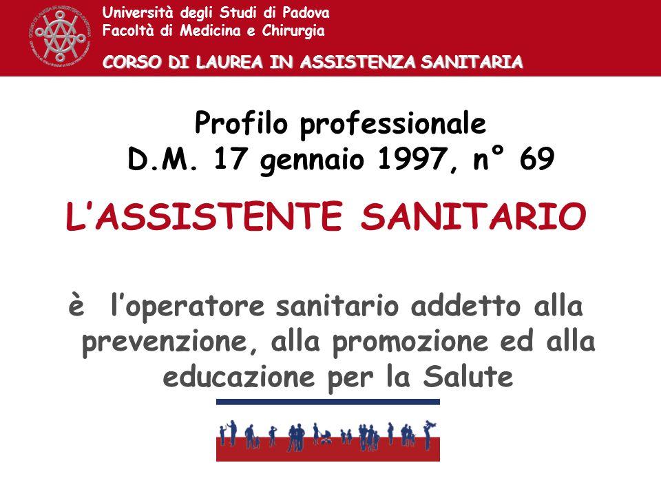 L'ASSISTENTE SANITARIO