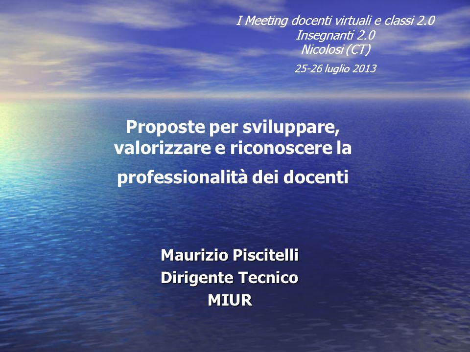 Maurizio Piscitelli Dirigente Tecnico MIUR
