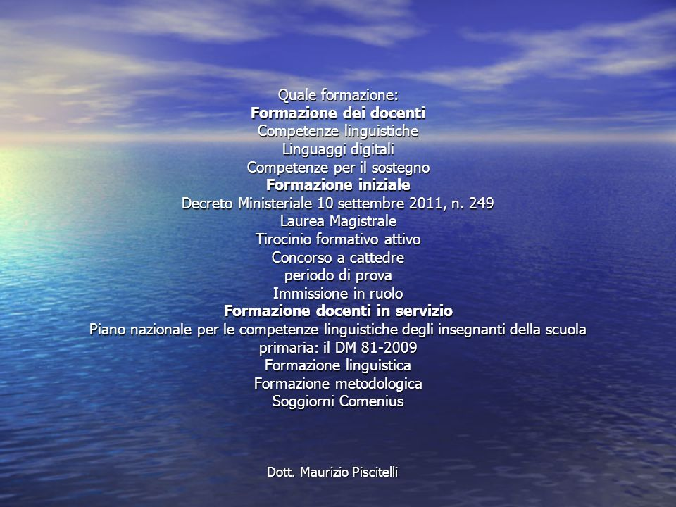 Dott. Maurizio Piscitelli