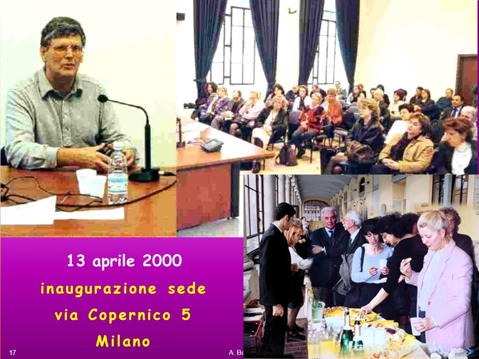 13 aprile 2000 inaugurazione sede via Copernico 5 Milano