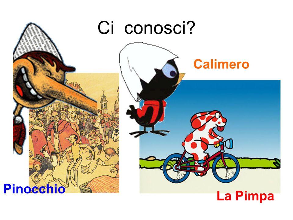 Ci conosci Calimero Pinocchio La Pimpa