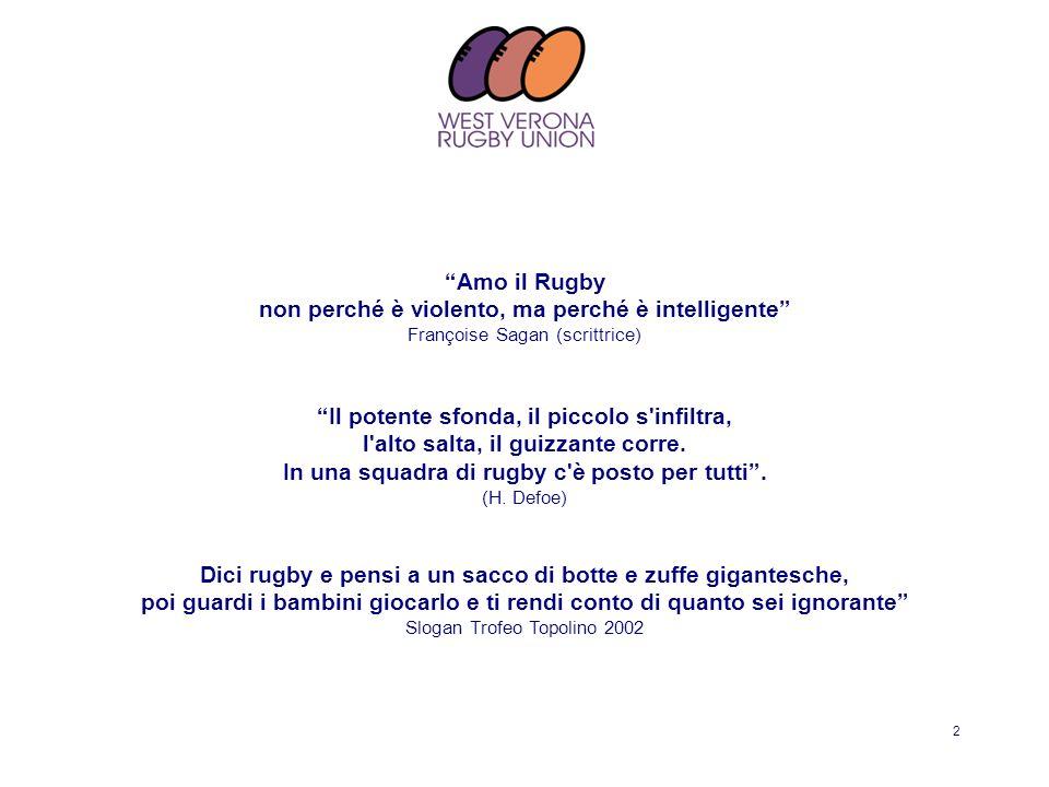 Amo il Rugby non perché è violento, ma perché è intelligente Françoise Sagan (scrittrice)