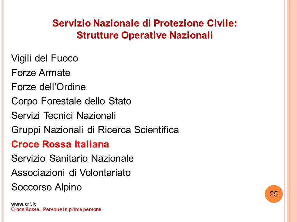 Servizio Nazionale di Protezione Civile: Strutture Operative Nazionali
