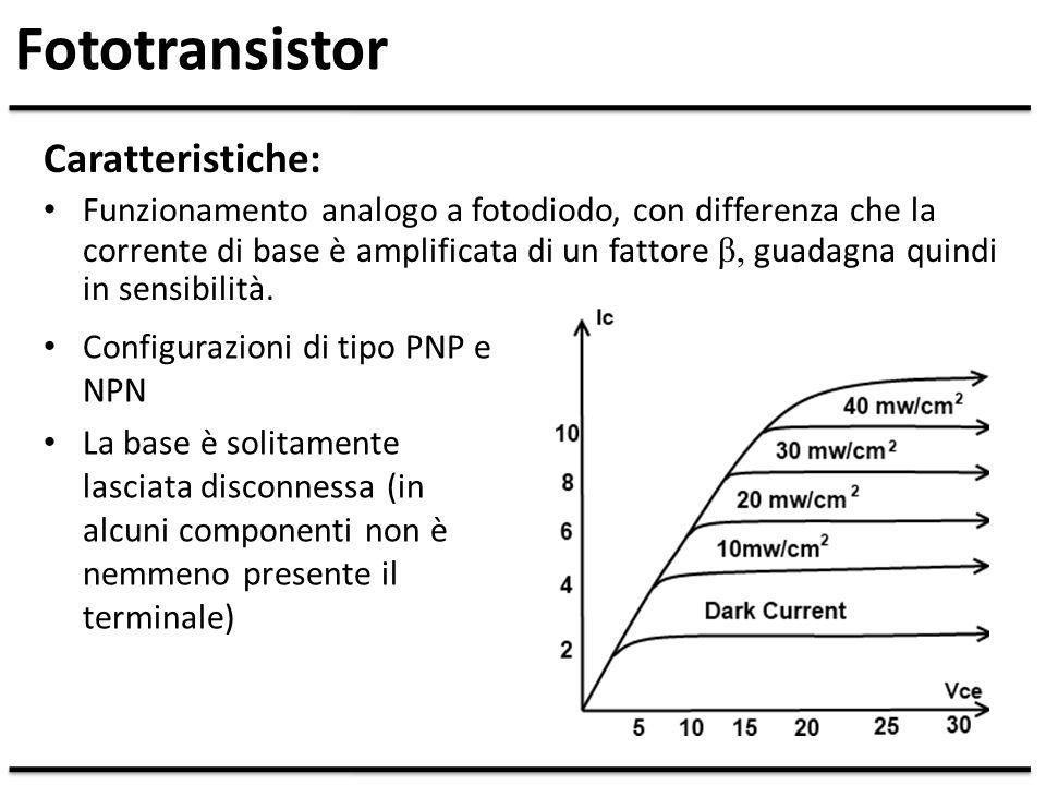 Fototransistor Caratteristiche: