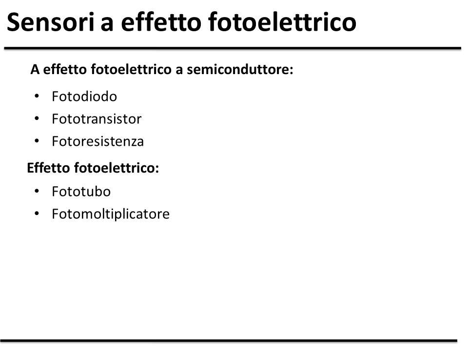 Sensori a effetto fotoelettrico