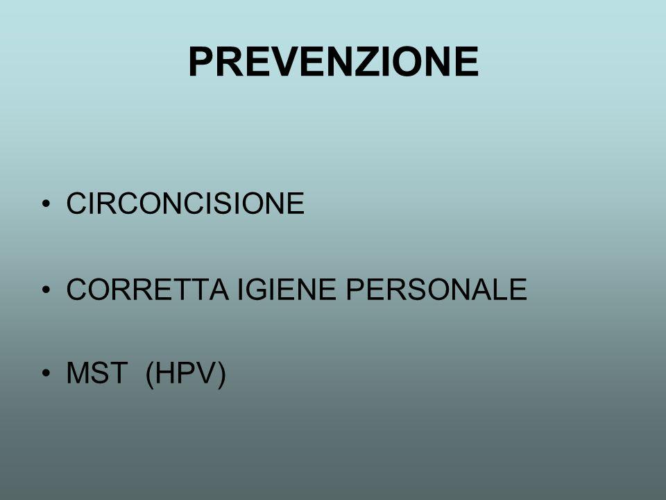 PREVENZIONE CIRCONCISIONE CORRETTA IGIENE PERSONALE MST (HPV)